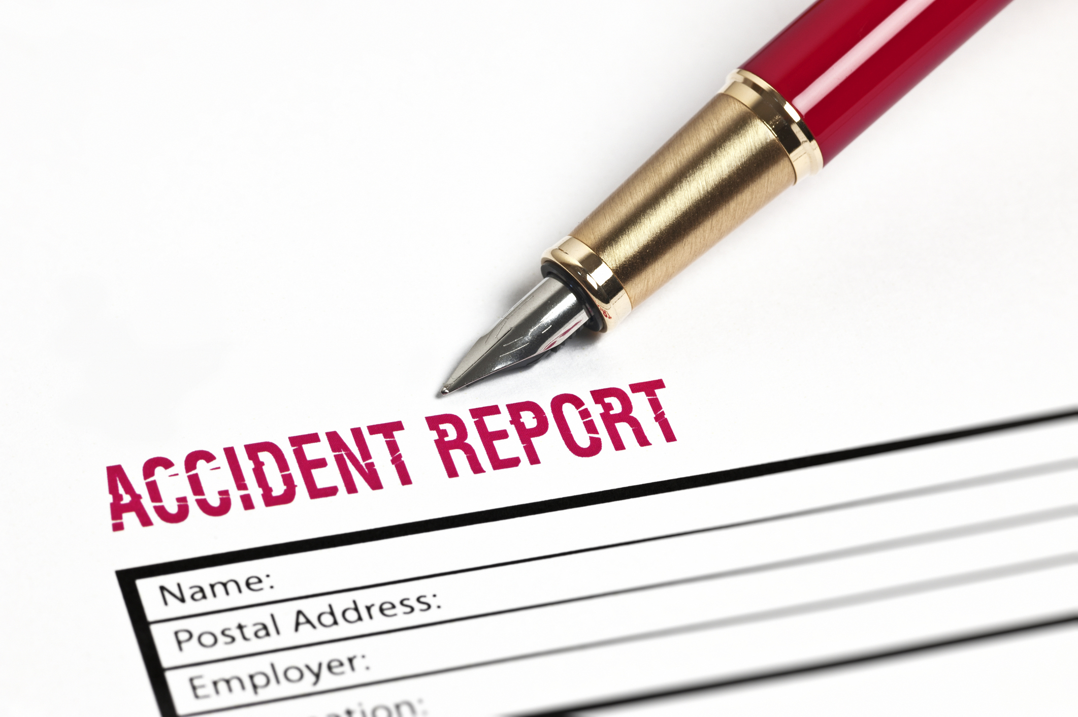 image of auto accident claim form